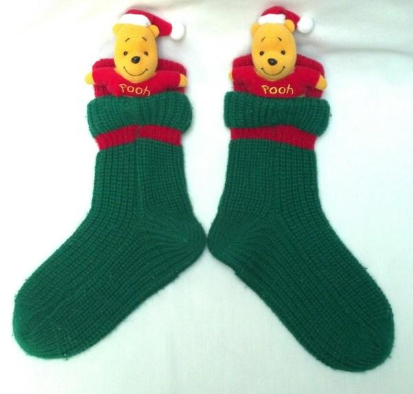 Pooh Christmas Socks