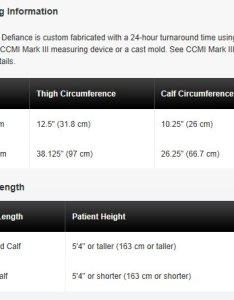 Sizing chart defiance oa custom knee braces by donjoy also brace the shop rh braceshopenda