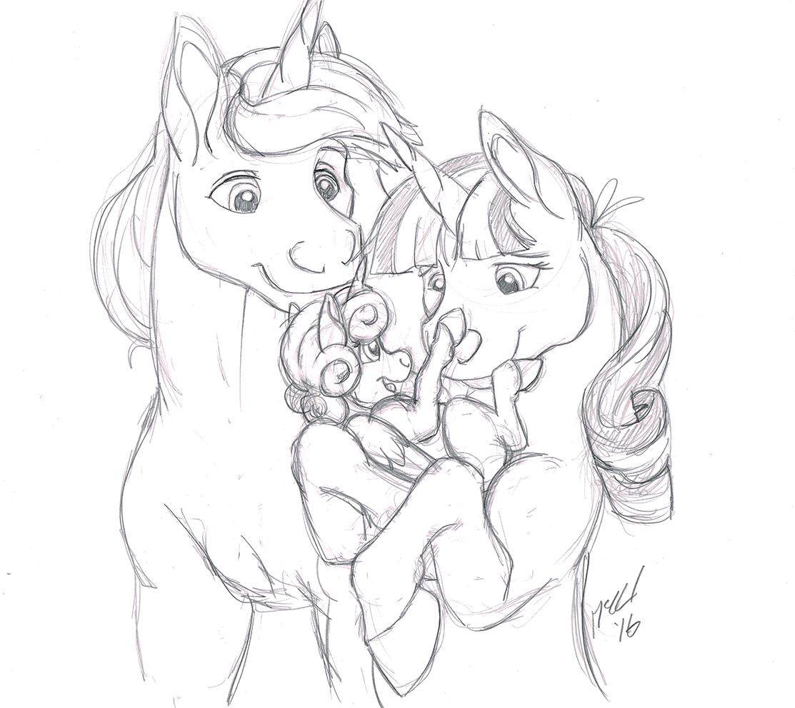 princess flurry heart, twilight's dad, and twilight velvet
