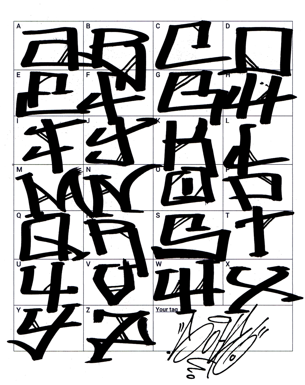 Graffiti Letter A In Writing T Graffiti
