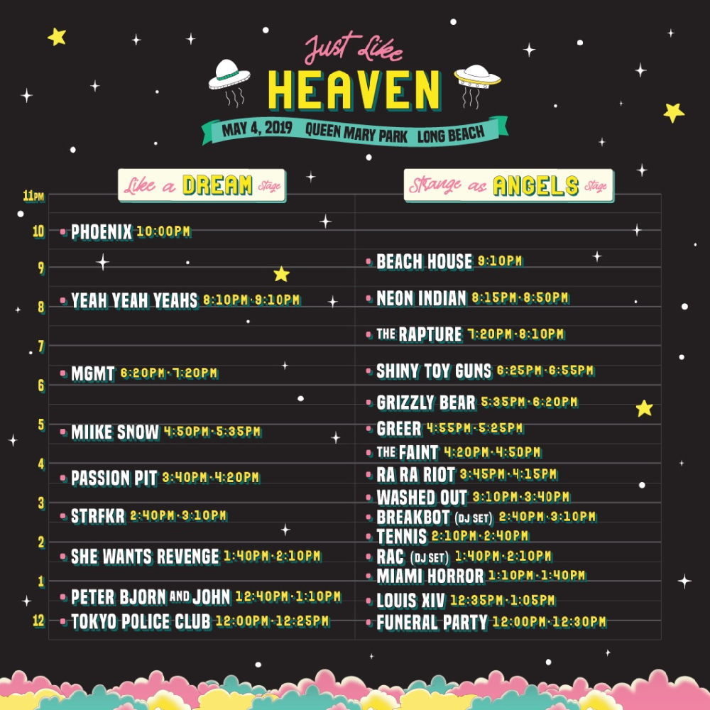 Just Like Heaven festival: Here are your set times for Friday and