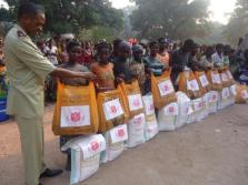 Image result for Food and clothing items distributed to IDPs