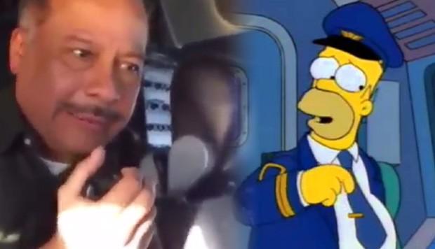 ¡A la grande le puse Cuca! Homero Simpson viajó por Aerolíneas