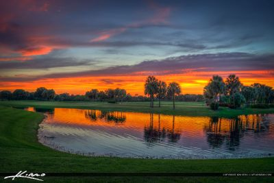 Sunset at Golf Course in Abacoa Florida