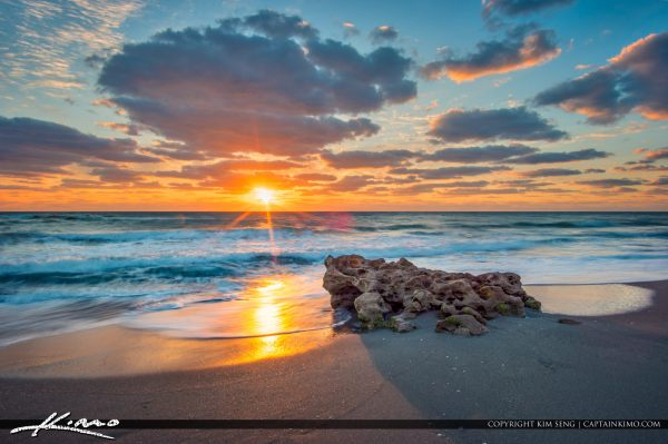 amazing sunrise florida beach landscape