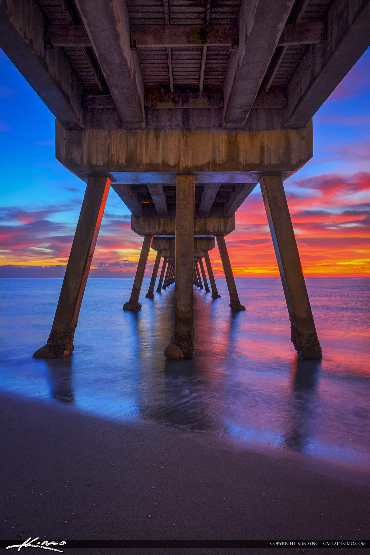 fishing chair amazon office workout abs deerfield beach vertical sunrise under pier