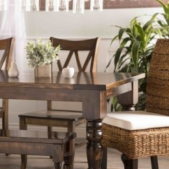 Banana Leaf Dining Room Chairs Infinite Position Recliner Power Lift Chair Natural Finish James Furniture With White Cushion