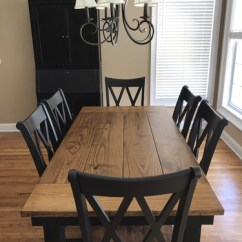 Farmhouse Table And Chairs With Bench Card Solid Wood Farm James Furniture Springdale Arkansas
