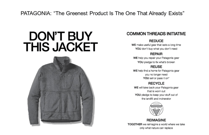 Patagonia's Don't Buy this Jacket Advertisement