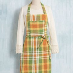 Kitchen Aprons Shun Knives September Plaid Apron Linens Ovenmitts Potholders Beautiful Designs By April Cornell