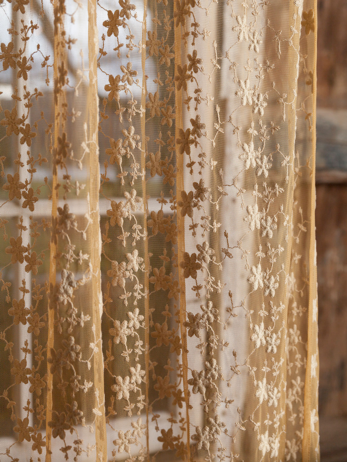 Nanette Net Curtain  Gold  Your Home Curtains