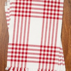 Kitchen Cotton Yarn Fruit Decor Happy Picnic Gingham Rib Placemat Set/4 - Red | April's ...