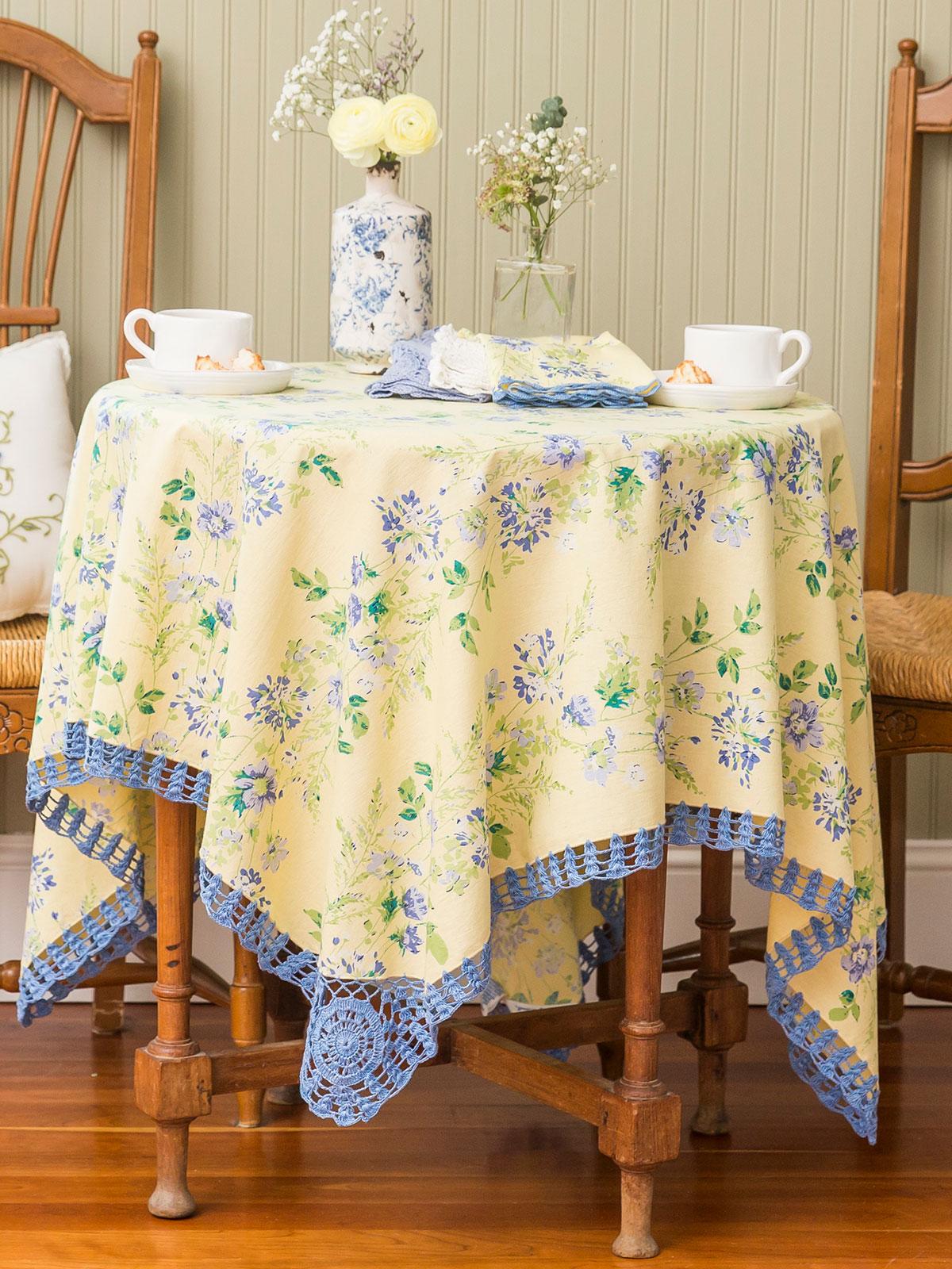 Prairie Crochet Tablecloth  Linens  Kitchen Tablecloths