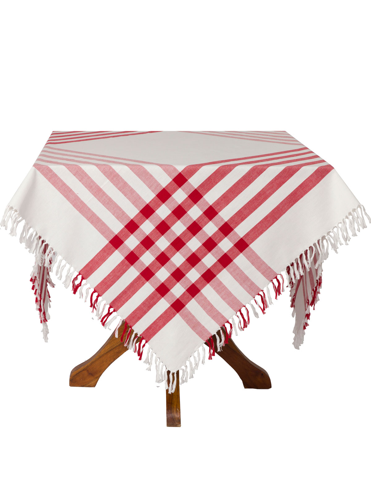 kitchen cotton yarn chairs for heavy people happy picnic gingham tablecloth - red | attic sale, linens ...