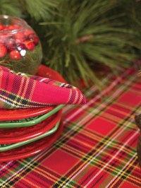 Tartan Christmas Tableware & Tartan Plaid Tablecloth