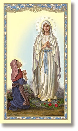 Our Lady Of Lourdes Holy Card 100pk Devotional Items