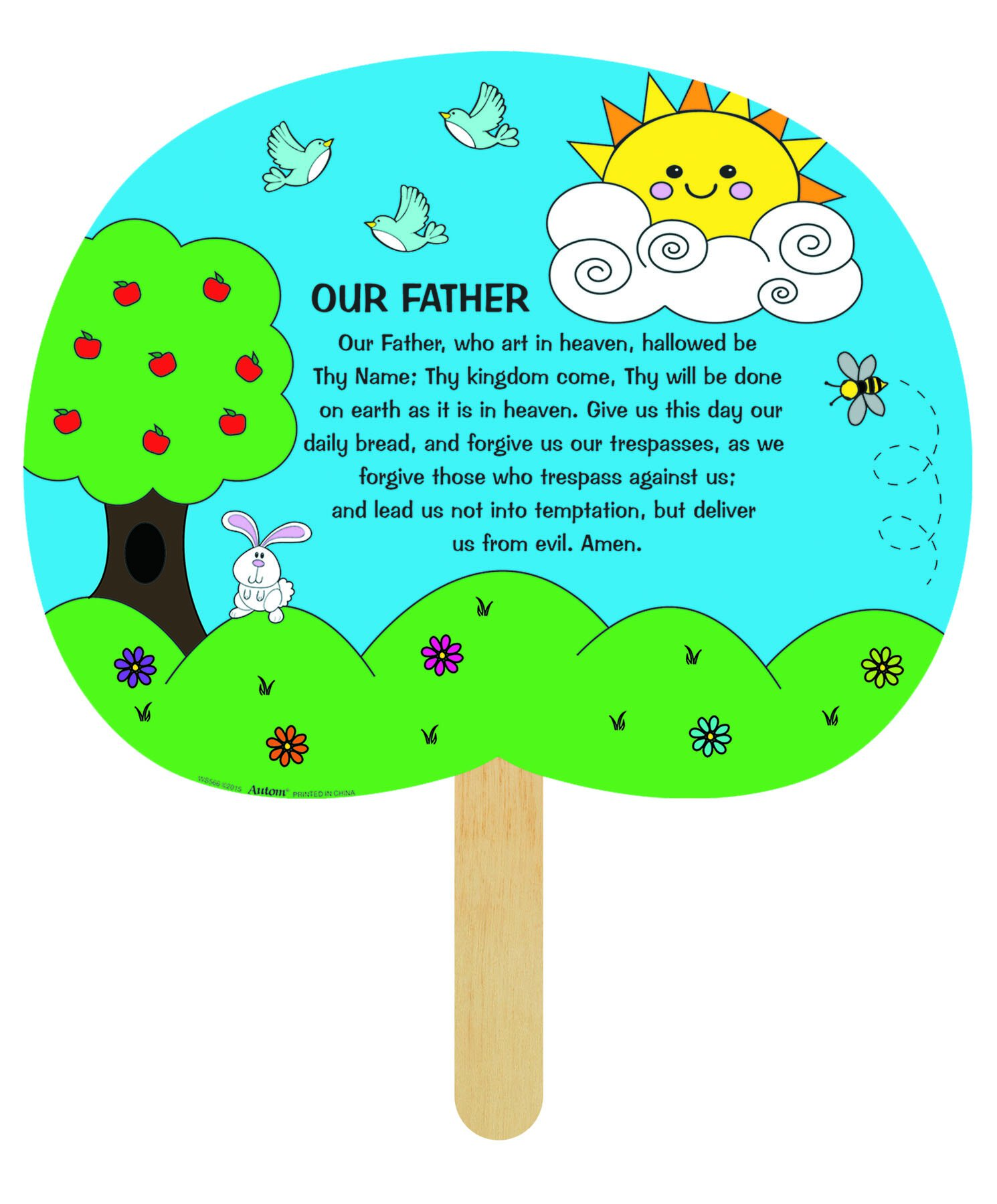 Our Father Prayer Color Your Own Fan