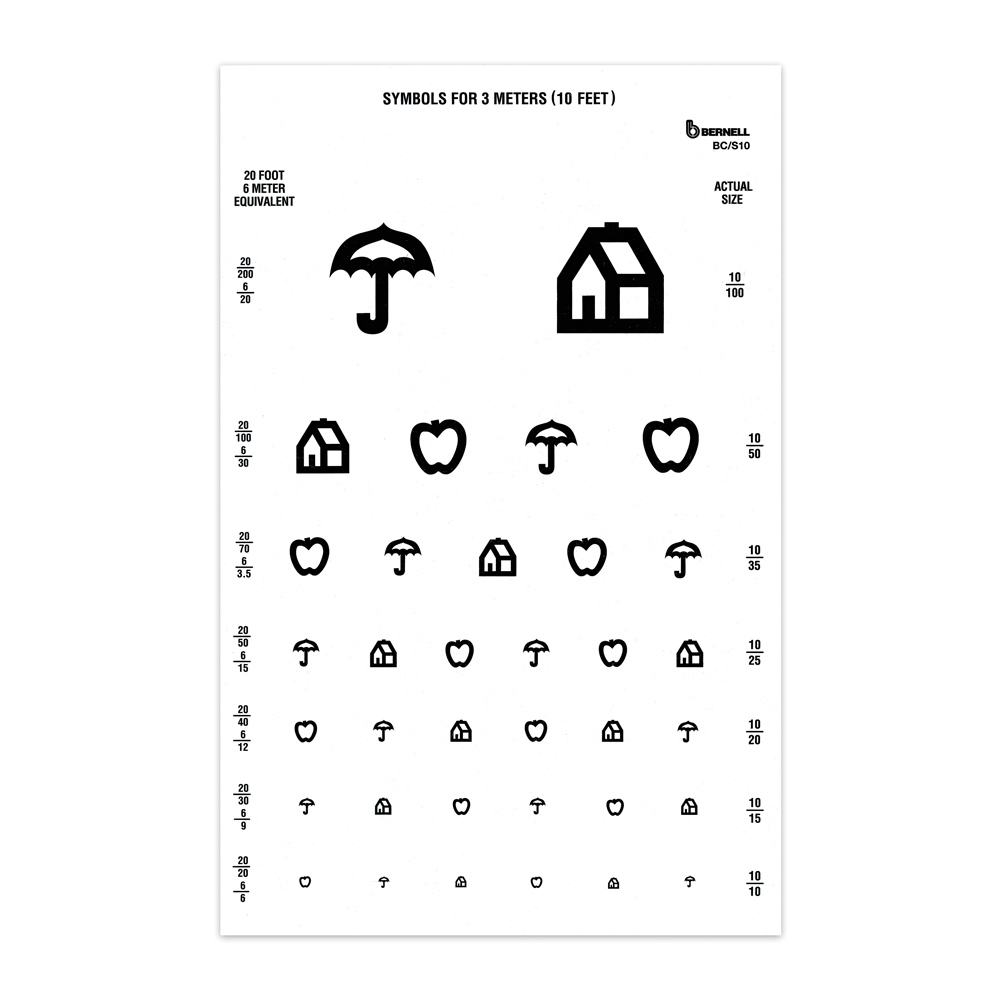 Symbol 10ft Test Chart, : Bernell Corporation