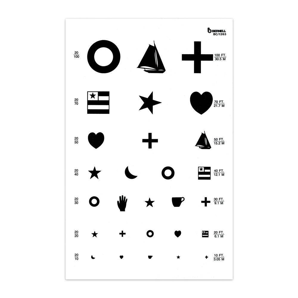 Kindergarten 20ft Test Chart, : Bernell Corporation