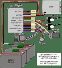Wiring Upgraded Controller for MX650 Razor BIke ...