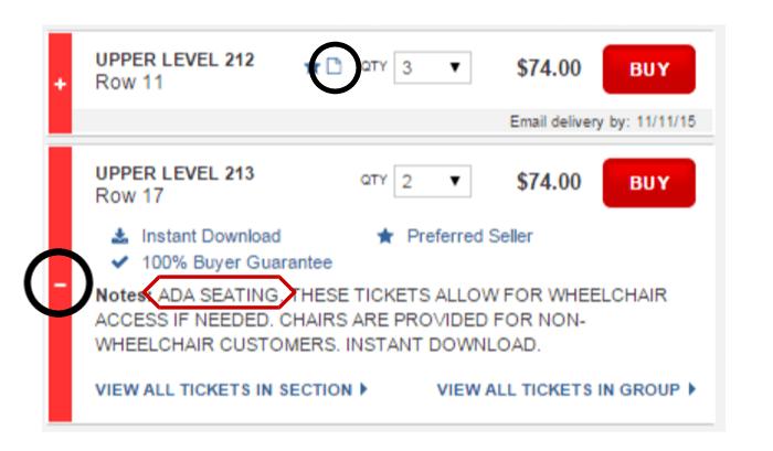 AccessibleADA Seating  Vivid Seats Customer Support