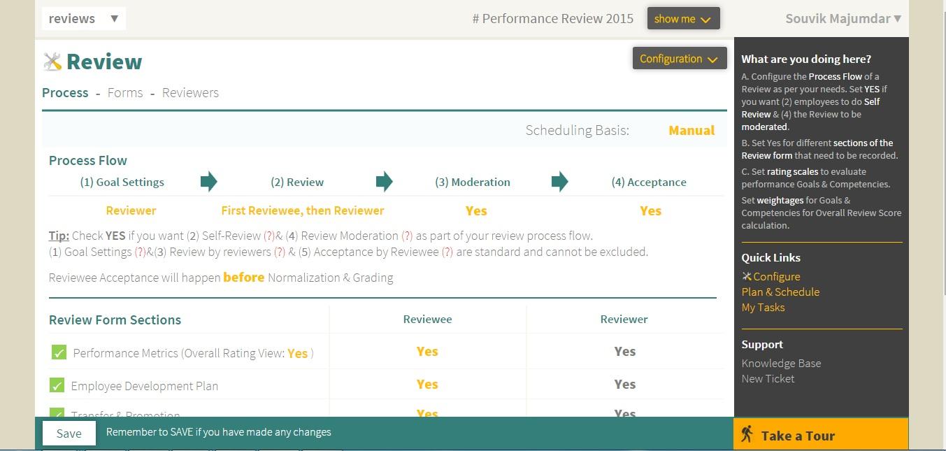 Review Process Flow. Performance Measures Setup :