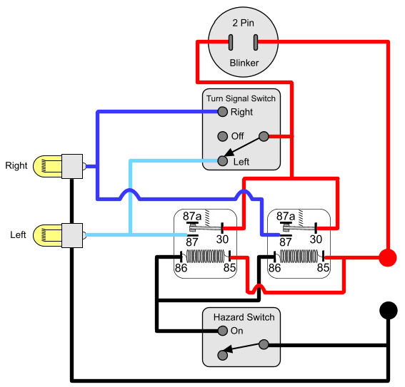 wiring diagram for motorcycle led indicators window ac diagrams installing turn signals : electricscooterparts.com support
