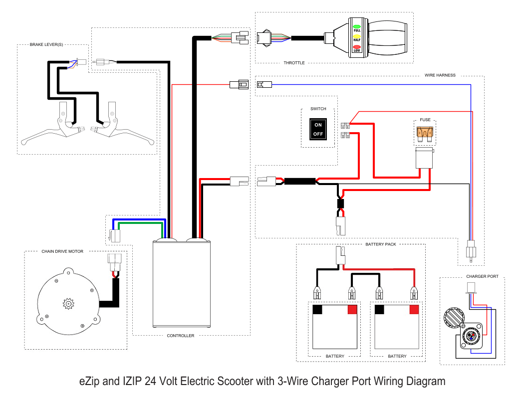 e scooter wiring diagram cat5e wall socket ezip 450 electric needed