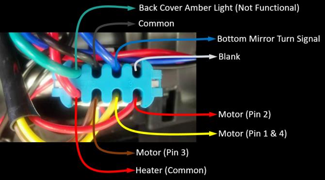 internal wiring diagram for international truck door mirrors