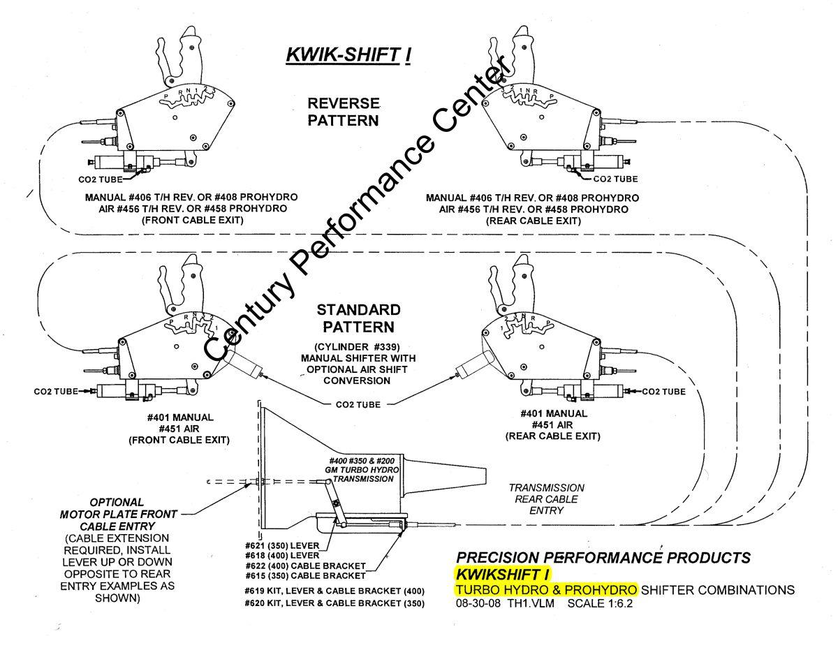 hight resolution of kwik shift shifter component option drawings gm th400 th350 rh centuryperformance freshdesk com th400 line diagram th400 parts diagram