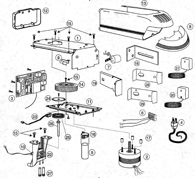 3 button garage door opener circuit diagram