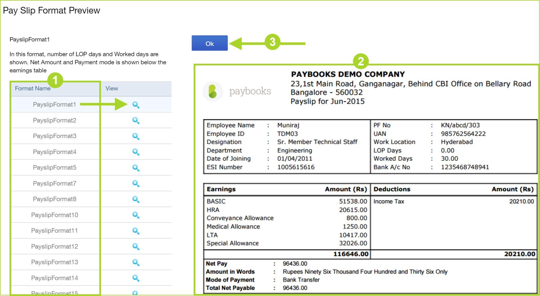 payroll slip format – Payroll Slip Format