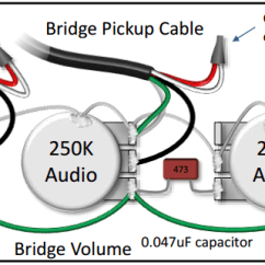 3 Conductor Pickup Wiring Diagram 2016 Jeep Wrangler Subwoofer The Pickups Is Confusing Do You Have A Simplified This Shows How To Connect 2 Single Blend Pot As Part Of Bartolini Pre Wired Harness