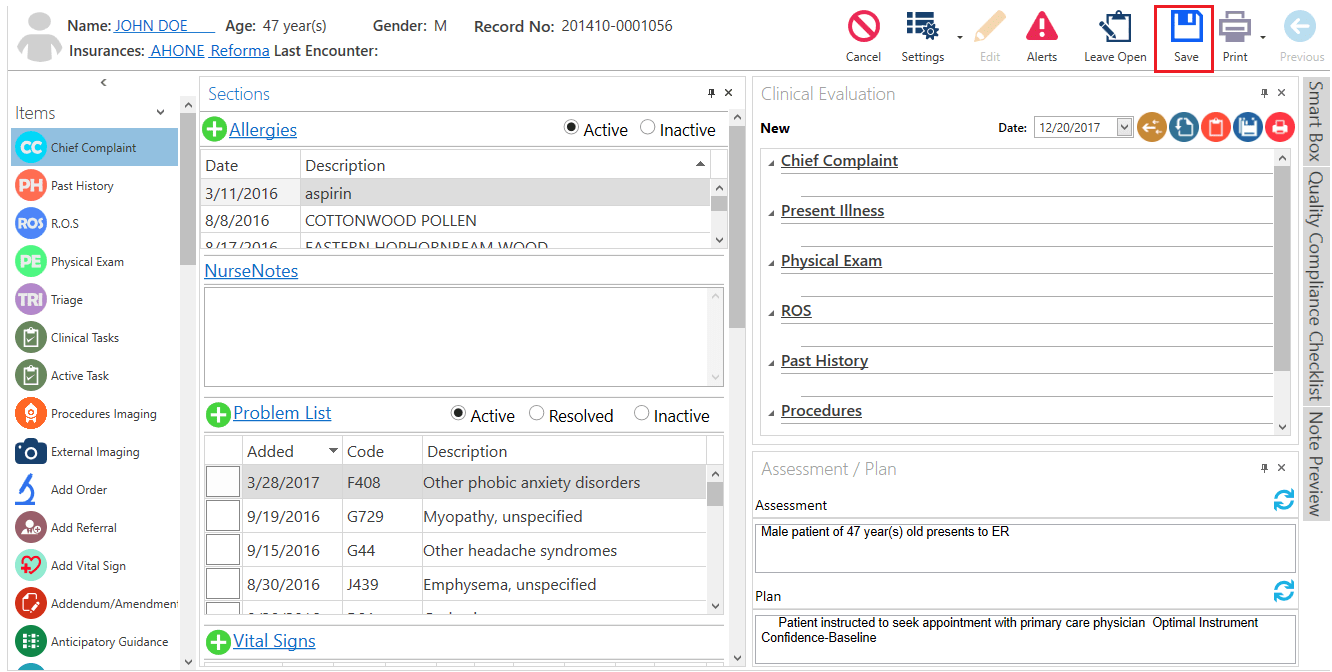 How To Save A Progress Note?