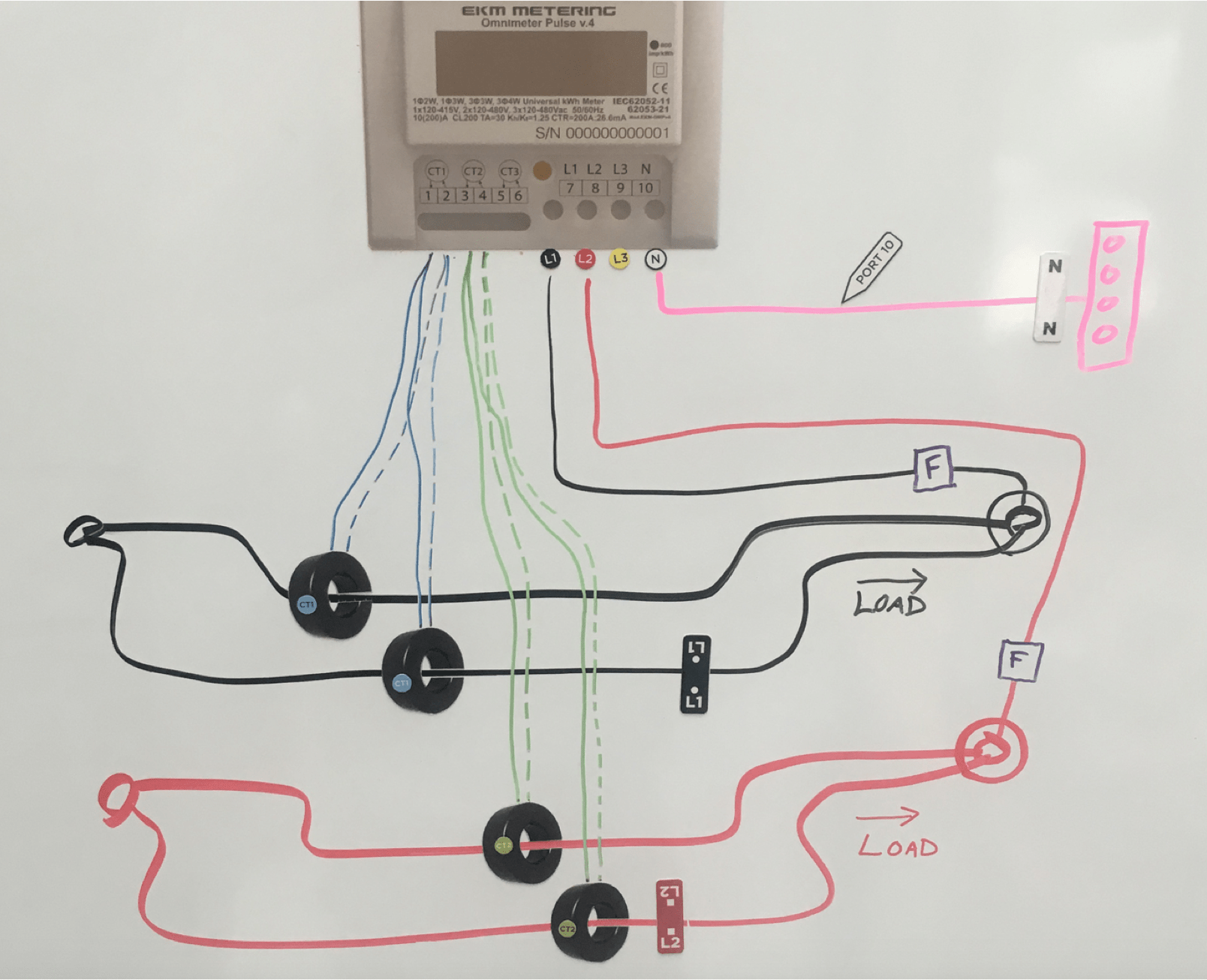 medium resolution of you can also pass multiple wires through a single ct as long as all of the wires are on the same phase here is an explanation of how to pass multiple
