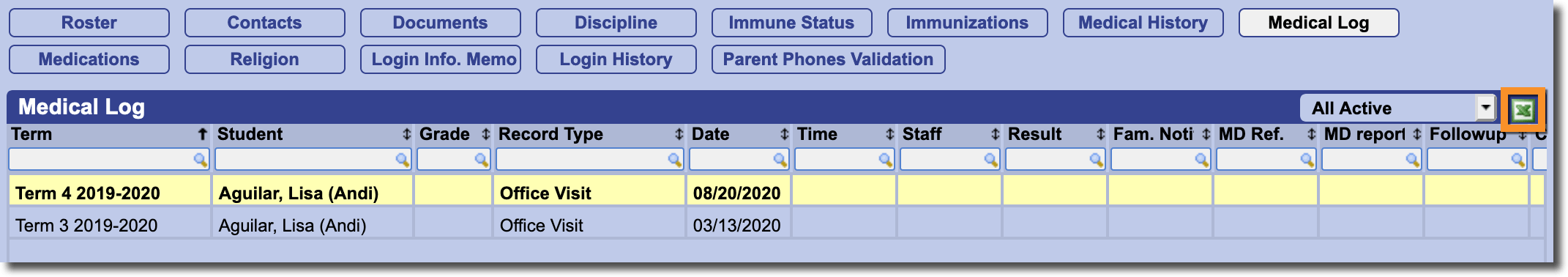 Tracking COVID-19 cases using Daily/School Attendance and the Medical Log :  Gradelink Support Community [ 378 x 2142 Pixel ]