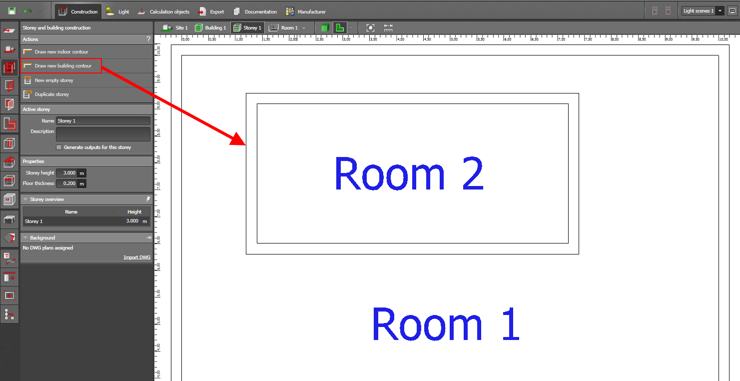 How to construct a room inside an already existing room