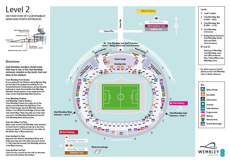 Level stadium map club wembley all seats starting with guest support portal also rh help wembleystadium