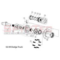 09 Dodge Ram 3500 DRW SpynTec Front Manual Locking Hub Kit