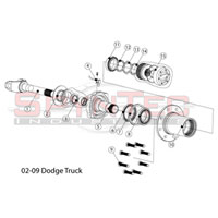 '00-'08 4WD Dodge Ram SpynTec Front Manual Locking Hubs Kit