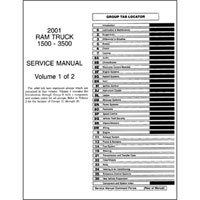 2001 Dodge Ram Factory Service Manual CD