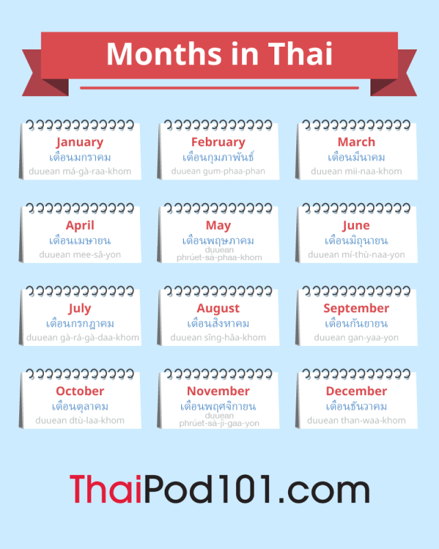 The Thai Calendar: Talking About Dates in Thai