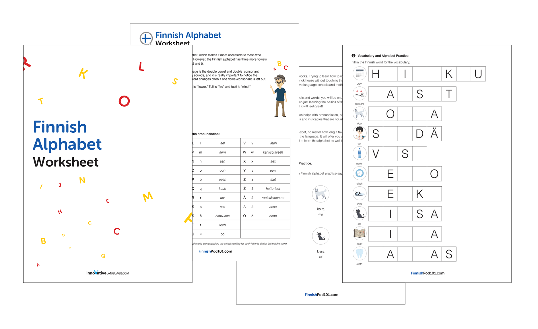 Finnish Language Worksheets