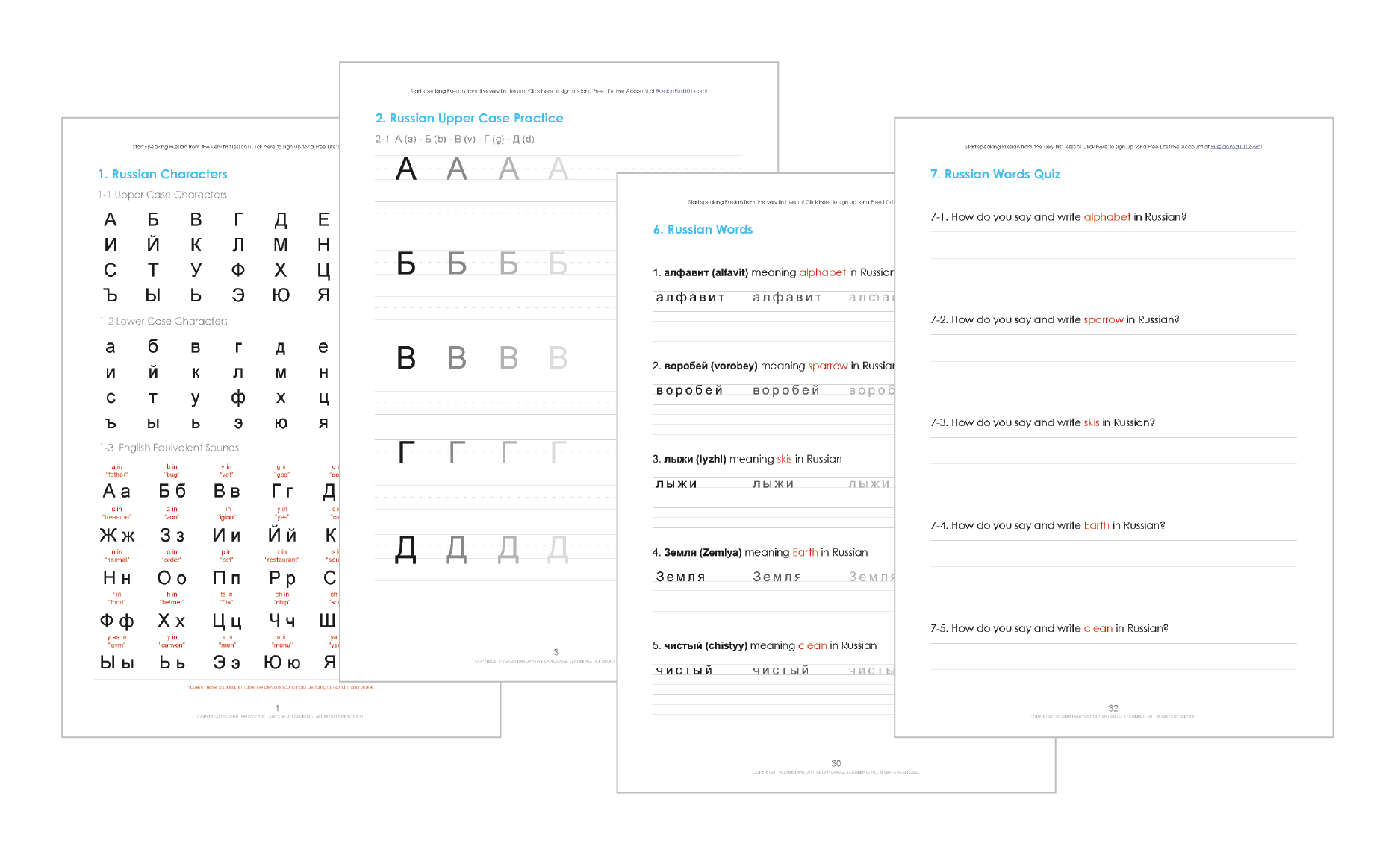 Learn The Russian Alphabet With The Free Ebook