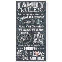 Family Rules Wall Art, Dcor - Lehman's