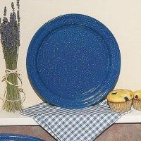Royal Blue Enamelware Dinner Plate, Dinnerware - Lehman's