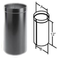 DuraBlack Oval to Round Adapter Wood Stove Pipe, Stove ...