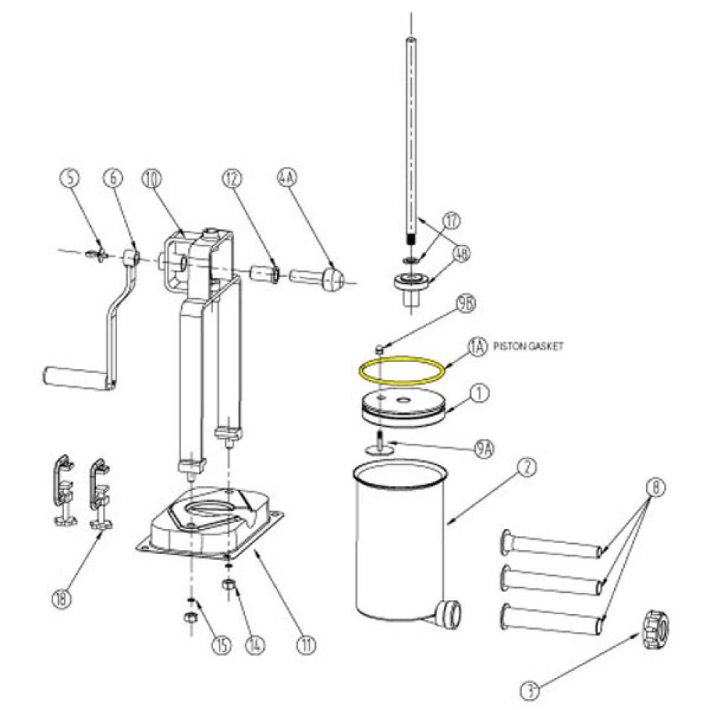 Part- Piston Gasket for 5 lb. Vertical Stuffer # 606 & 606SS