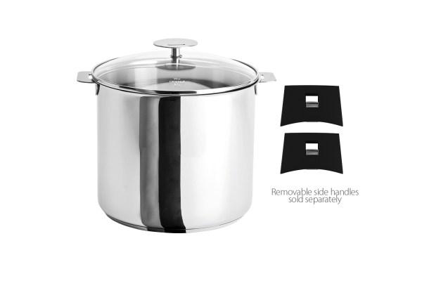 Cristel Stainless 10qt Stock Pot Withglass Lid M24qkp