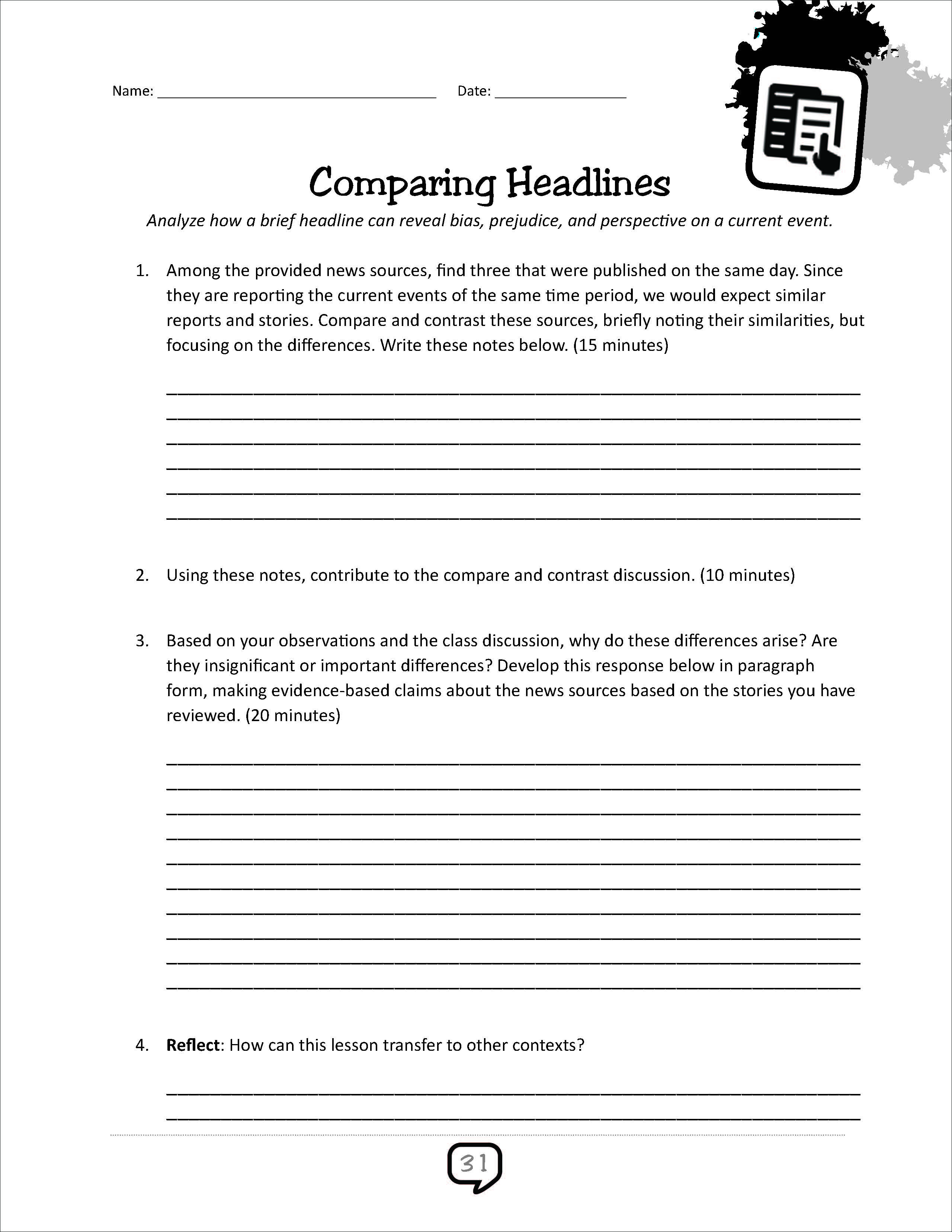 Activities For Current Events Book English Teacher S